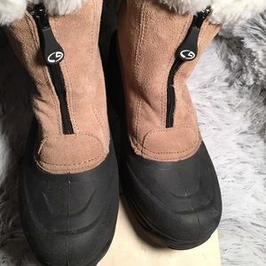 C9 Champion Tan/White Faux Fur Winter Boots W9